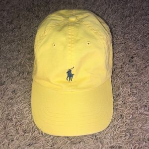 Yellow and navy polo hat